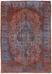 Vintage Hand-knotted Carpet 8and03910 X 13and0391 Traditional Oriental Wool Area Rug