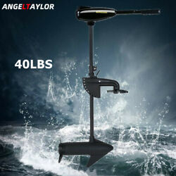 40lb Thrust Electric Trolling Motor Outboard Engine Fishing Boat Motor 12v 34a