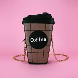 Shoulder Bag For Women New Luxury Designer Crossbody Leather Coffee Cup $15.99