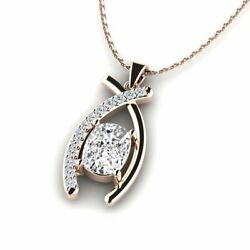 Antique 2.19 Carat White Color Diamond Pendant For Gift Solid 18k Rose Gold