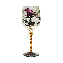 Halloween Hand Painted Wine Glassskeleton Bat Ghost Fortress Witch Cat Goblet