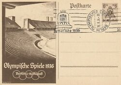 Germany 1936 Olympic Games - Unused Postcard With Closing Bell Machine Slogan