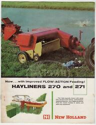 New Holland Farm Machinery Hayliner 270 271 Vintage Graphic Advertising Brochure