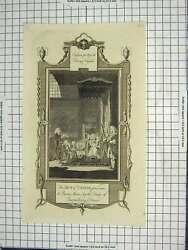 Old Antique Print Engraving Act Union Queen Anne Duke Queensberry Dover