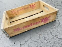 Vintage 1970's Rc Royal Crown Cola Me And My Rc Wood Soda Pop Crate Chicago Il