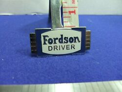 Badge Fordson Tractors Trucks Driver Advert Advertising Ford Agriculture Farming