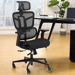Ergonomic Office Chairs, Mesh Desk Chair With 3d Headrest, 5-year Warranty Chair