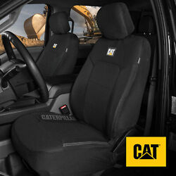 Truck Seat Covers For Front Seats Set - Caterpillar Black Automotive Seat Covers