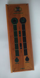 Noble Games Cribbage Board Wood And Leather Vintage England Sir John David Ripley
