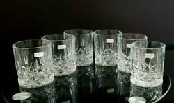 Set Of 6 Sherbrooke By Royal Doulton Old Fashioned Glasses Discontinued