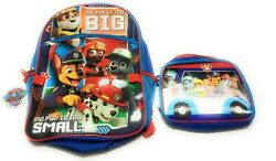 Paw Patrol Backpack Boys Girls School NEW with Lunch Bag $15.33