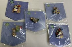Vintage Charming Tails Pin Lot 5 Balloon Beach Party Valentines Christmas Pins