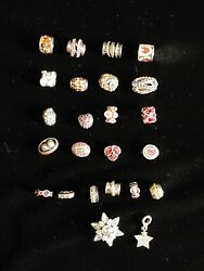 Chamilia Sterling Silver Charm Lot Of 24 Authentic Stamped See Photos 925 1