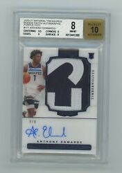 2020-21 Panini National Treasures Rookie Patch Auto Anthony Edwards True Rpa 8/8
