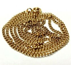 14k Rose Gold Chain Link Necklace Made In Russia 6.6 Grams 24 Inches