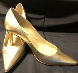 J Renee Gold Pointed Toe Dress Shoes Size 8.5M $32.00