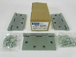 Lot Of 15 Sets Of 3 - Mckinney Macpro Mpb79 Hinges 4 1/2 X 4 1/2 26d With Screws