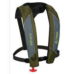 Onyx A/m-24 Series Automatic/manual Inflatable Life Jacket-green,adult