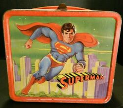 Vintage Superman The Movie Metal Lunch Box No Thermos 1978 Good Condition