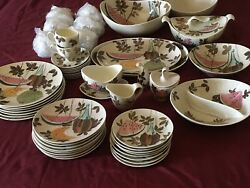 Red Wing Pottery Tampico 33 Pieces Place Settings Service Perfect Must See Pics