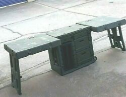 Hardigg Military Army Green Mobile Office Field Desk - Duel 2 Desk Design