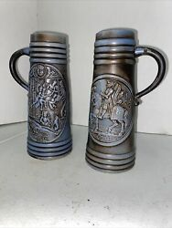 W. Germany Beer Steins Getting The Pair In Mint Shape Gerz