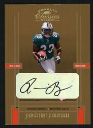 2005 Donruss Classics Significant Signatures 202 Ronnie Brown Rookie Auto /75