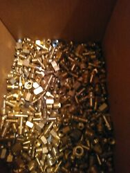 Lot Of 50 Brass Hydraulic Brake Air And Plumbing Fittings 1/4 5/16 3/8 1/2