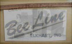 Bee Line Elkhart, Ind Vintage Style Travel Trailer Decal Yellow And Black 17