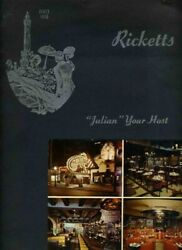 Ricketts At The Water Tower Restaurant Menu E Chicago Ave Chicago Illinois 1957