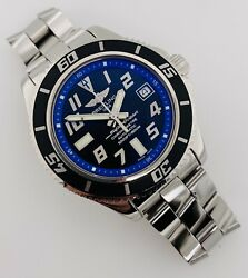 Breitling Superocean Abyss 42mm Automatic Black/blue Dial Steel A17364