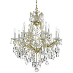 Crystorama 4413-gd-cl-mwp Maria Theresa Chandelier Gold