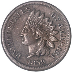 1859 Indian Head Cent Extra Fine Penny See Pics J272
