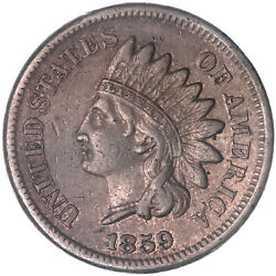 1859 Indian Head Cent Extra Fine Penny See Pics J273