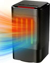 Space Heater, Electric Ceramic Indoor, Adjustable 3 Mode Office With Oscillating