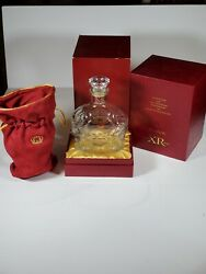 Crown Royal Xr Red Rare Collector's Set - Bottle, Bag, Display Box Lot