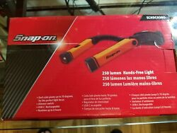 New Snap On Tools Hands Free Rechargeable Neck Light Echdc038 250 Lumen 2 Colors