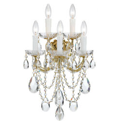 Crystorama 4425-gd-cl-s Maria Theresa Wall Sconce Gold