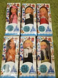 Disney Retro It's A Small World Collection Doll Set Of 6 1980s Collectible F/s