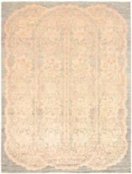 Modern Hand-knotted Carpet 9'1 X 12'2 Grey Area Rug