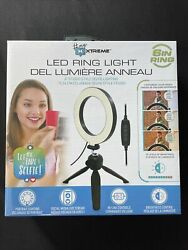 """Led Ring Light 6"""" With Adjustable Tripod Stand 10 Brightness Levels,3light Modes"""