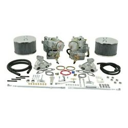 Dual 40 Solex Carburator Kit, For 1.7-1.8 Type 2, No Choke, Dunebuggy And Vw