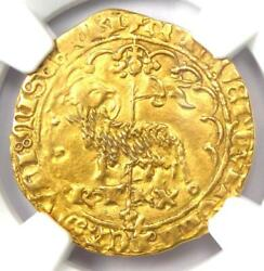 1380-1422 France Charles Vi Agnel Dand039or Gold Coin - Certified Ngc Au50 - Rare