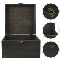 1pc Antique Wooden Case Jewelry Case For Display Storage Decor