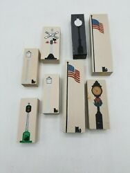 Cat's Meow Lionel, Flagpole Signs - Lot Of 8
