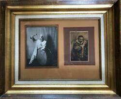 Enrico Caruso- Vintage Signed Photograph Framed Famous Italian Tenor