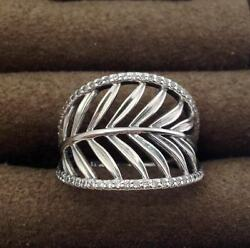 Authentic Pandora Tropical Palm Ring, Sterling Silver Sz 6, 190952cz-52 New