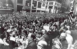Bobby Kennedy And Hubert Humphrey Vintage New York Campaign Photo