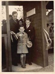 Bobby And Teddy Kennedy Boys At The London Zoo Vintage Political Press Photo 1938