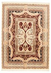 Vintage Hand-knotted Carpet 9and0390 X 12and0396 Traditional Ivory Wool Area Rug